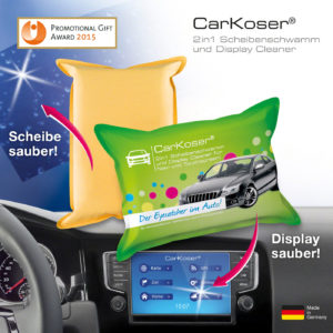 CarKoser® Classic Kissenform 2in1 Scheibenschwamm und Display Cleaner