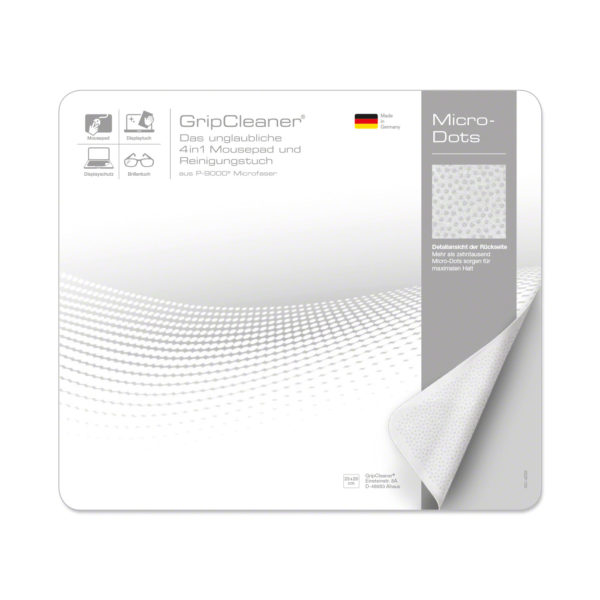 GripCleaner® 4 in1 Mousepad & Microfasertuch