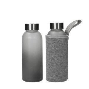 """Glasflasche mit Hülle """"Iced"""" 500 ml"""
