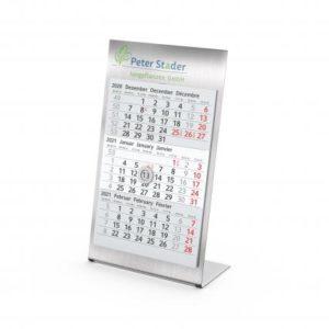 Tisch-Aufstellkalender Stahl 3 Monate Desktop
