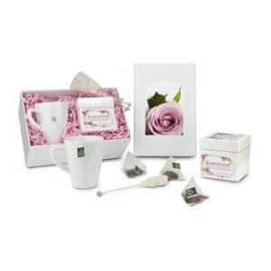 Geschenkset Teebox Rosentraum