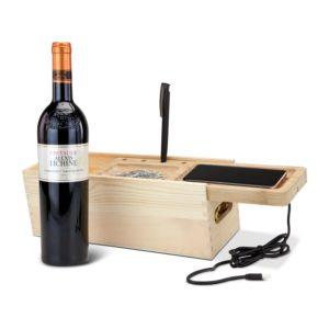 Rackpack® Holzbox Wireless Wine kabelloses Aufladen