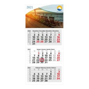 Mehrblockmonatskalender 3 Monate Medium Light Bestseller