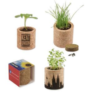 Pflanzentopf aus Kork mit Ihrer Werbung