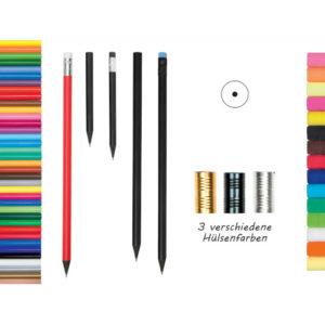 Bleistift schwarz durchgefärbt Farbauswahl